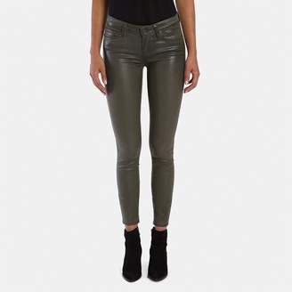 Paige Verdugo Ultra-Skinny Jean in Army Luxe Coating
