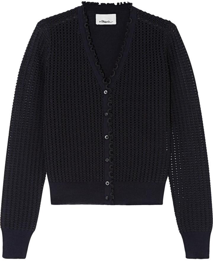 3.1 Phillip Lim3.1 Phillip Lim Metallic pointelle-knit wool-blend cardigan