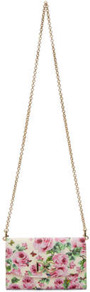 Dolce & Gabbana Pink Rose Logo Wallet Chain Bag