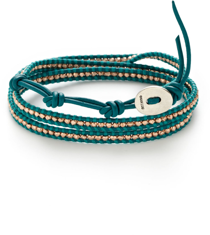 Chan Luu Rose Gold Nugget Wrap Bracelet