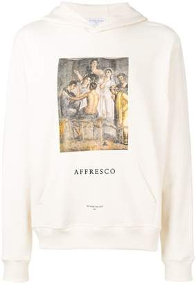 Ih Nom Uh Nit Affresco graphic-print hooded sweatshirt
