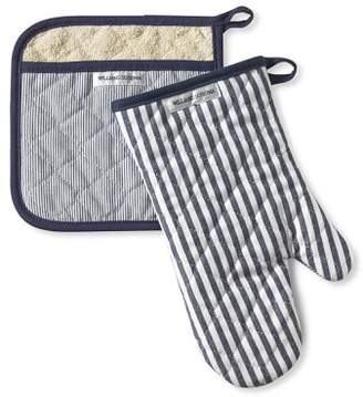 Williams-Sonoma Williams Sonoma Bay Stripe Mitt & Potholder Set, Navy Blue