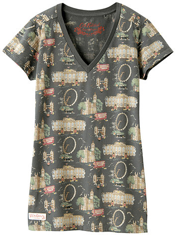 WOMEN Cath Kidston Charity Project V Neck Short Sleeve T E