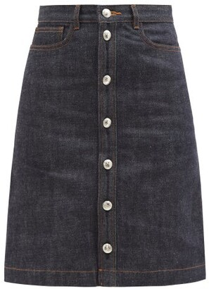 A.P.C. Therese Raw Denim Skirt - Womens - Indigo