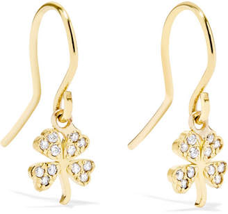 Jennifer Meyer Mini Clover 18-karat Gold Diamond Earrings