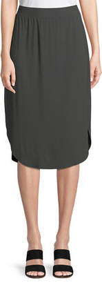 Eileen Fisher Viscose Jersey Slim Pull-On Skirt
