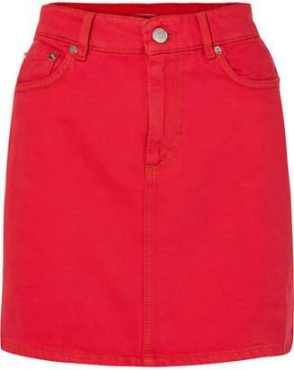 Ganni Denim Mini Skirt - Red