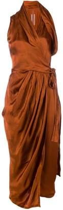 Rick Owens wrap style midi dress
