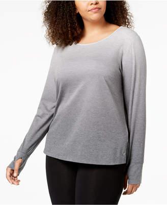 Ideology Plus Size Dip-Dyed Long-Sleeve T-Shirt