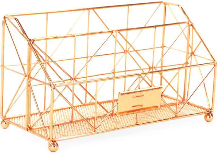 Robely Copper-Tone Desk Organizer