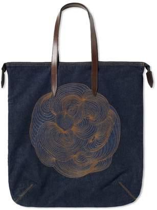 Dries Van Noten Embroidered Denim Shopper
