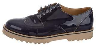 Hogan Patent Leather Lace-Up Oxfords