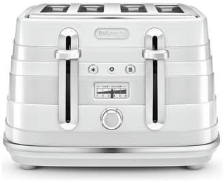 De'Longhi CTA4003W Avvolta Toaster - White
