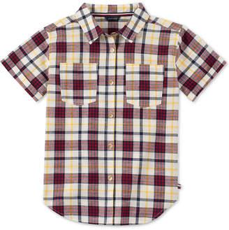 Tommy Hilfiger Big Girls Cotton Plaid Short Sleeve Shirt
