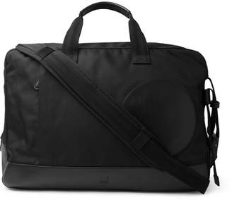 Dunhill Radial Leather-Trimmed Canvas Holdall - Men - Black