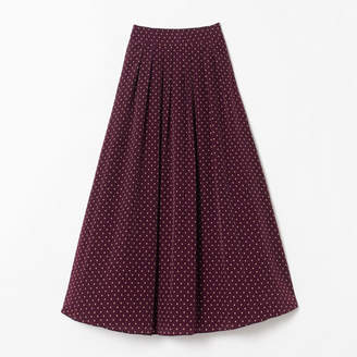 M7days (エムセブンデイズ) - M7days ドット柄マキシ丈スカート