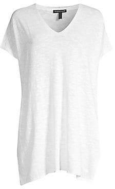 Eileen Fisher Women's Organic Linen Cotton Knit Tunic Top