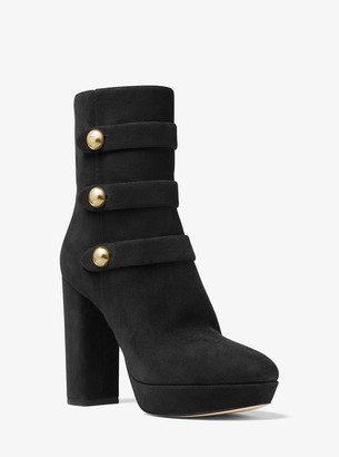 MICHAEL Michael Kors Maisie Suede Platform Ankle Boot