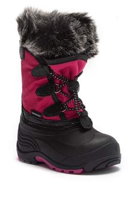 Kamik Powdery Faux Fur Trimmed Waterproof Winter Boot (Toddler & Little Kid)