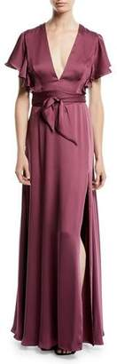 Jill Stuart Neve Side Twist Satin Dress