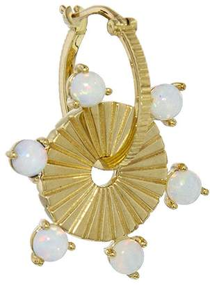 Foundrae Large Opal Earring Disk - Yellow Gold