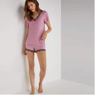 Joe Fresh Women's Lace Trim Sleep Shorts