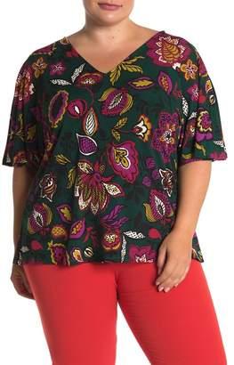Leota Allie V-Neck Dolman Sleeve Top (Plus Size)