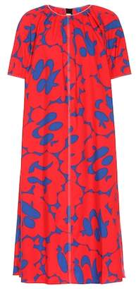 Marni Printed cotton midi dress