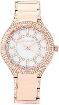 Michael Kors MK3313 Rose Gold-Tone Kerry Pave Watch