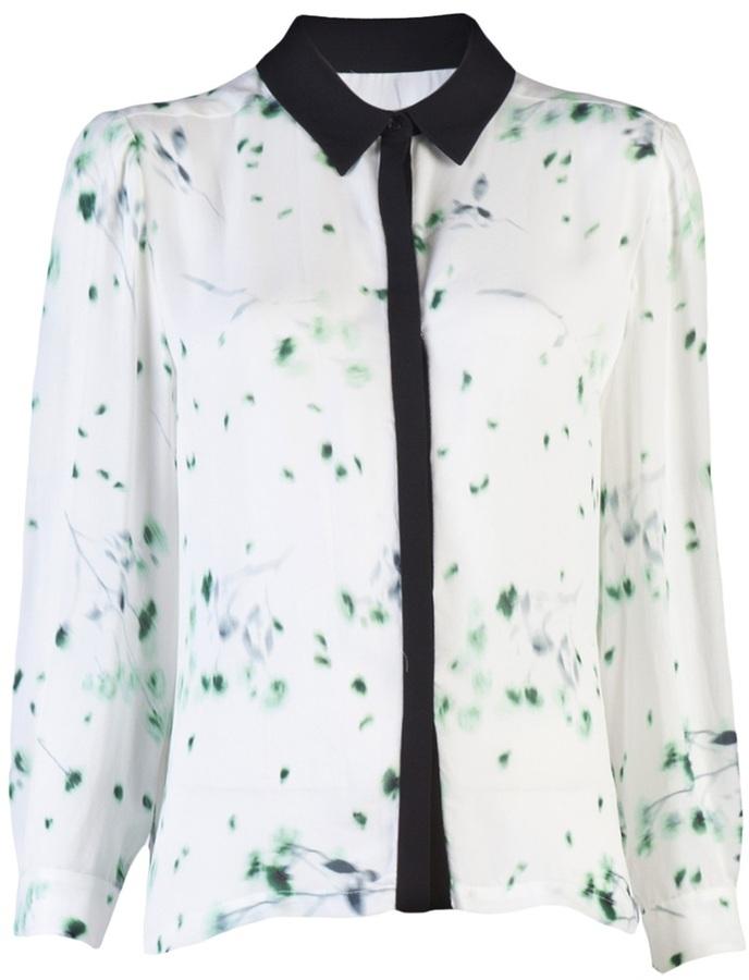 A.L.C. print georgette blouse