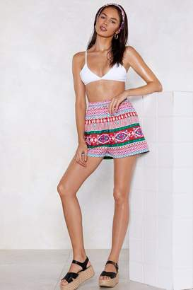 Nasty Gal Beach to Their Own Printed Shorts