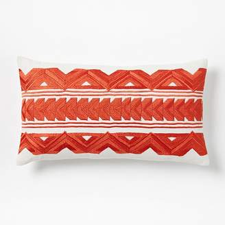 west elm Embroidered Zigzag Arrow Pillow Covers