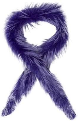Prada Fox Fur Scarf w/ Tags