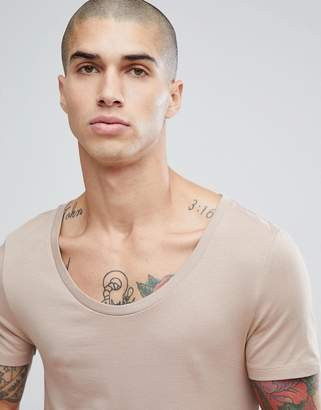 Asos DESIGN Muscle Fit T-Shirt With Scoop Neck
