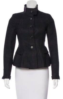 Burberry Virgin Wool Plaid Coat