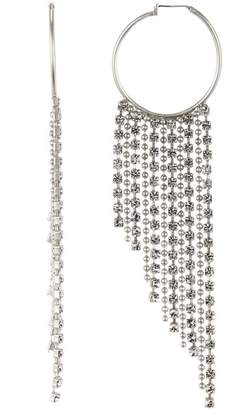 Loren Hope Joan Crystal Chain Hoop Earrings