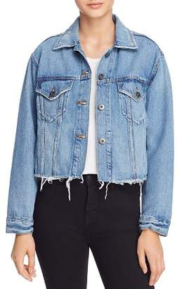 Pistola Naya Cropped Boyfriend Fit Denim Jacket