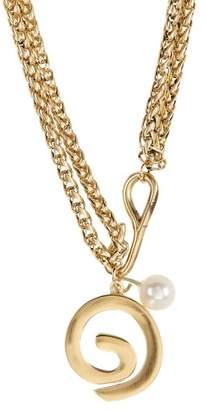 Elizabeth and James Lyla Freshwater Pearl & Swirl Pendant Necklace