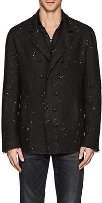 John Varvatos Men's Paint-Splattered Linen Double-Breasted Jacket