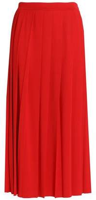 Love Moschino Pleated Stretch-Jersey Maxi Skirt