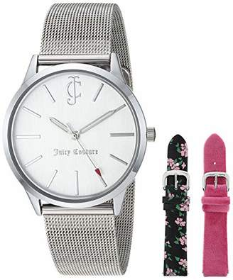 Juicy Couture Black Label Women's -Tone Mesh Bracelet Watch and Interchangeable Strap Set