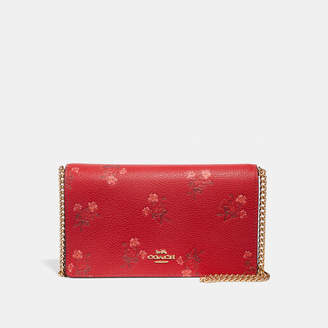 Coach Lunar New Year Callie Foldover Chain Clutch With Floral Bow Print