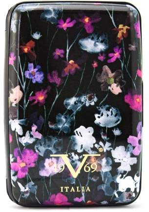 V19.69 Italia RFID Blocking Wallet, Secured Card Holder (Watercolor Flowers)