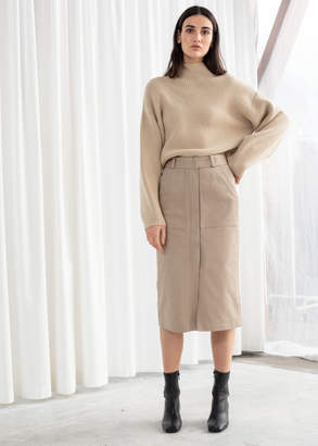 And other stories Stretch Cotton Pencil Skirt