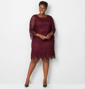 Avenue Scalloped Lace Sheath Dress