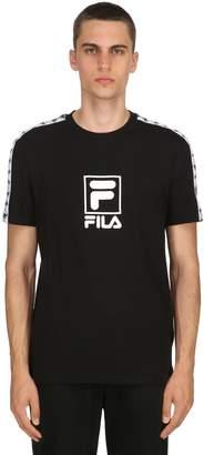 Jersey T-Shirt W/ Sleeve Logo Bands