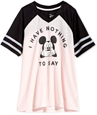 Disney Big Girls Colorblocked Mickey Mouse T-Shirt