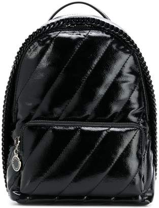 Stella McCartney patent faux leather backpack