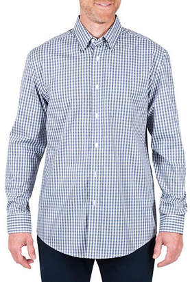 Haggar Long Sleeve Mini Plaid Sports Shirt