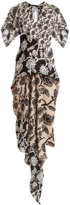 Roland Mouret Deane Mexican-rose print dress